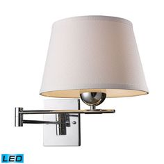 Lanza One Light Swing Arm Wall Sconce In Polished Chrome Elk Lighting Reading/Task Swing A