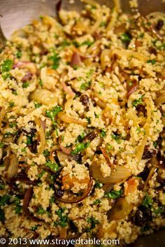 Caramelised Onion Cous Cous with Lamb Chops Recipe