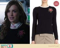 Jemma's flower sweater on Agents of SHIELD. Outfit Details: http://wornontv.net/22483 #AgentsofSHIELD