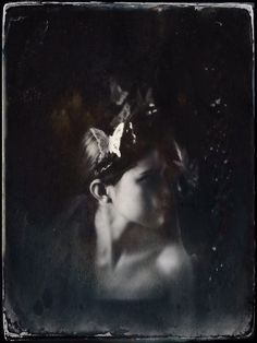 Midsummer Tin Type Magic Headdress - Mascherina Photo - Melora Walters Model- Joanna Walsh