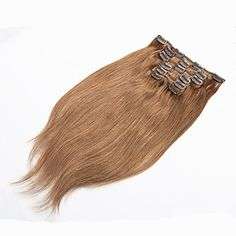 Clip+in+Human+Hair+Extensions+Blonde+Human+Hair+Clip+In+Extensions+70g+Platinum+Blonde+Human+Hair+Clip+In+–+USD+$+32.99