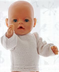 Doll clothes to knit Doll Clothes Patterns, Doll Patterns, Clothing Patterns, Baby Born Clothes, Preemie Clothes, Baby Born Kleidung, Our Generation Doll Clothes, Brother Knitting Machine, Baby Knitting Patterns