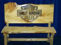Hand Made Rustic Log Cattle Bench by Fbt Sawmill Custom Wood Furniture | CustomMade.com