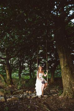 DIY reception swing! nik & chris | an eco-friendly, handmade coastal welsh wedding