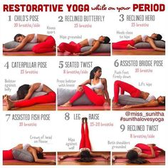 Restorative yoga for your period