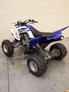 Custom Key Chain ATV Yamaha Raptor Honda TRX type 4 Wheeler blue w//sand tires