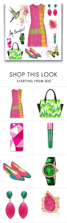 """Pink and Green"" by freida-adams ❤ liked on Polyvore featuring Christopher Kane, Lipstick Queen, Bulgari and AtelierBriella"