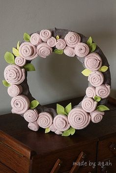 Rosettes Wreath by made by agah, via Flickr