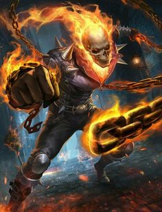 Ghost Rider by Gary Fu Ghost Rider Film, Ghost Rider Tattoo, Ghost Rider Marvel, Marvel Comics Art, Ms Marvel, Marvel Heroes, Captain Marvel, Punisher Marvel, Wolverine