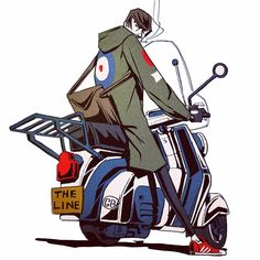 """""""Mi piace"""": 1,469, commenti: 16 - THE LINE (@thelineanimation) su Instagram: """"By The line's @lordduveen #mod #scooter #lambretta"""" Retro Scooter, Lambretta Scooter, Scooter Scooter, Vespa Illustration, Character Concept, Character Design, Queen Poster, Cartoon Styles, Animation"""