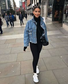 Onde Comprar Jaqueta Jeans - How To Be Trendy Winter Fashion Outfits, Fall Winter Outfits, Look Fashion, Summer Outfits, Feminine Fashion, Classy Fashion, Sport Fashion, Adidas Fashion, Fashion Styles