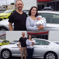 Congratulations to Dustin, Kristen and little Parker. We hope you enjoy your new 2013 Honda Accord. Welcome to the McDonough Toyota Family. Sales Associate: Dave Woods mcdonoughtoyota.com