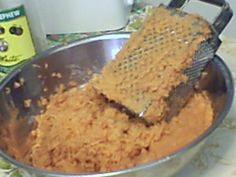 Back home in Jamaica we love to make sweet potato pudding. I have watched my grandmother and mother make this pudding and never saw them measured their ingredients, they just bake without using any kind of measurement. I have also baked without. Jamaican Desserts, Jamaican Cuisine, Jamaican Dishes, Jamaican Recipes, Jamaican Sweet Potato Pudding, Sweet Potato Bread, Sweet Potato Recipes, Carribean Food, Caribbean Recipes