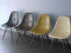 Fiberglass Shells! Modernica. Made in Los Angeles, California.