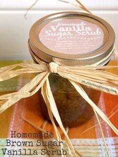 Homemade Brown Sugar and Vanilla Scrub {rhubarbandhoney.com}