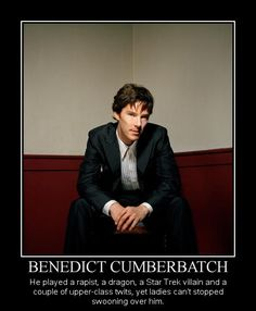 Benedict Cumberbatch  Jealous Much?? Too funny!