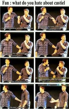 I saw this...just perfect timing and absolutly perfect misha moment