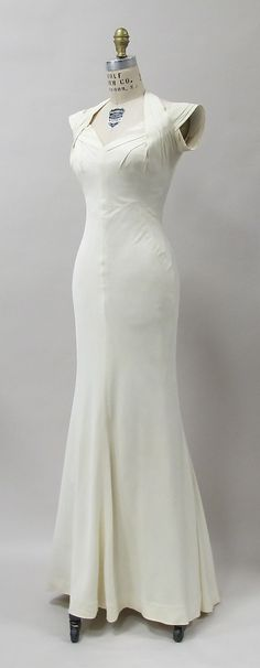 Evening Dress, Charles James, 1933, American, rayon