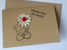 Thank You So Much  Thank you Card for Teacher by AuntyJoanCrafts, £1.50