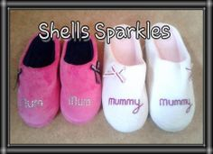 Personalised Slippers - The Supermums Craft Fair