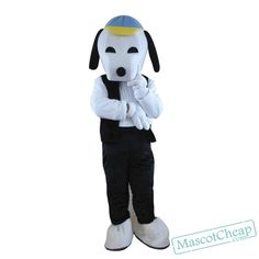 Black Snoopy Cartoon Mascot Adult Costume Free Shipping
