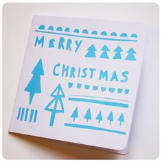 screen printed 'merry christmas' card by kayleigh o'mara illustration & crafts | notonthehighstreet.com