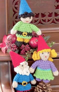 Gnome Family Free Crochet Pattern from Red Heart Yarns