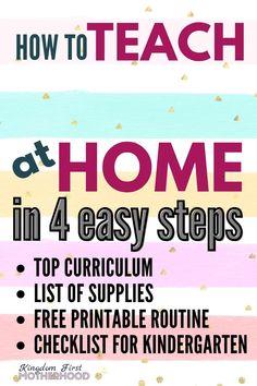 Teach Preschool at Home in 4 easy Steps