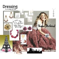 Sex and the City: Happy Birthday Carrie!!! by ourdesignpages on Polyvore