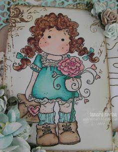 Close up of Tilda Cat Crafts, Magnolias, I Card, Princess Peach, Cats, Fictional Characters, Magnolia Trees, Gatos, Cat