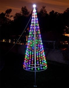 Strings of lights turn the flag pole into a colorful christmas tree flag pole solutioingenieria Image collections