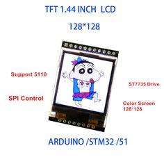 """5 V/3.3 V 1.44 """"TFT 1.44 inch LCD Hiển Thị Module 128*128 Màu Trang Trí SPI Tương Thích đối với Arduino mega2560/STM32/SCM 51"""