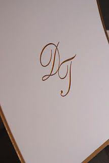 golden foil wedding invitation