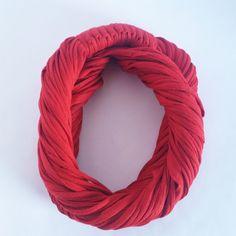 Vermelho Escarlate - Colar de Malha | Cachecol de Malha Lindo Acessório da Moda que VOCÊ confere na ColaresDaMah.com