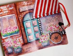 PARISIAN CAFE ART JOURNAL PAGE
