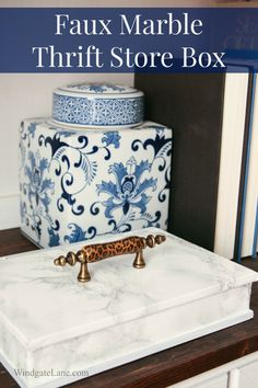 Faux Marble Thrift Store Box: #swapitlikeitshot - Windgate Lane