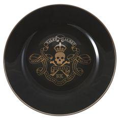 Ralph Lauren Home - Ayers Dessert Plate Royal Skull & Bones