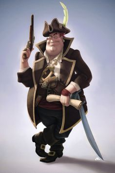 Pirate by Anton Lubich, via Behance Character Creation, 3d Character, Character Concept, Pirate Games, Pirate Art, Pirate Illustration, Character Illustration, Cartoon Faces, Cartoon Characters