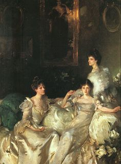 The Wyndham Sisters (1900) John Singer Sargent From the left, we have Mary who became Lady Elcho, Pamela who became Mrs Tennant and Madeline, who married Mr Adeane.  Behind them is the portrait of their mother, Mrs Percy Wyndham, by G F Watts.  Mary's Sister-in-Law, Hilda, married another Soul, St John Brodrick and her maiden name was Charteris, another family with many connections to the Soul circle.  Coming into the circle were people like Henry James, Edith Wharton, Lady Randolph…