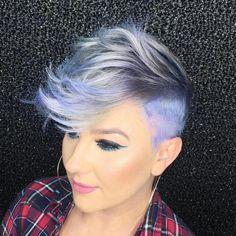 gray pixie undercut