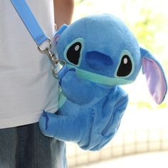 So Cute Disney Stitch Soft Plush Hugging Doll Shoulder Bag Coin Bag Purse #newbrand