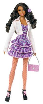 Barbie Stardoll by Barbie Pretty in Pink African-American Doll - Mix and Match Trendy, Original Fashions and Accessories by Mattel. $24.45. Barbie has teamed up with Stardoll to bring you the newest line of trendy fashion dolls. Stardoll is the largest online fashion and dress-up game community for girls. Girls will love mixing and matching trendy fashions and accessories. Comes with enclosed gift card to get a Superstar membership online. Experience all the online fu...
