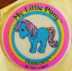 MLP My Little Pony/Ponies Vintage European Hopscotch& Puffy Sticker Vintage My Little Pony, Mlp My Little Pony, Kool Kids, 80s Kids, My Little Pony Stickers, Unicorn Stickers, Hopscotch, My Memory, Childhood Memories