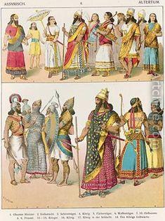 Assyrian dress painting
