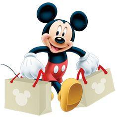 Mickey doing some shopping to help Minnie out. Disney Pixar, Retro Disney, Walt Disney, Cute Disney, Disney Art, Disney Magic, Downtown Disney, Disney Stuff, Disney Characters