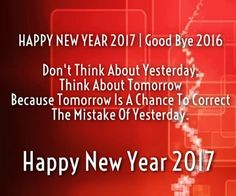 Happy new year 2017 and good bye 2016