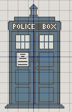 Buzy Bobbins: Tardis - Doctor Who cross stitch design