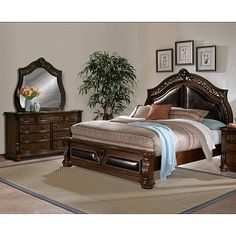 American Signature Furniture - Morocco Bedroom 5 Pc. Queen Bedroom $1,499.99  #BuyOnlineASF