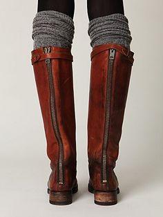 socks on socks on boots.