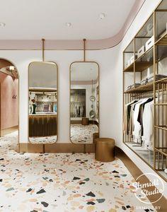 Interior Boutique Interior Boutique on Behance Boutique Design, Boutique Decor, Retail Boutique, Boutique Stores, Luxe Boutique, Boutique Ideas, Vintage Boutique, Clothing Boutique Interior, Clothing Store Design